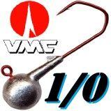 VMC Jigkopf Haken Rund Größe 1/0 Barbarian 5150 RD