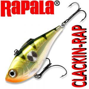 Rapala CLACKIN-RAP CNR-8 Crankbait Wobbler 8cm 25g Sinking Yellow Perch VMC Hooks