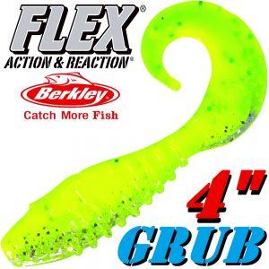 Berkley Flex Grub 4 Twister Gummifisch 10cm Lime