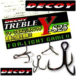 DECOY Y-S25 Drillinge für kleine Wobbler Größe 12 Farbe Nickel 8 Stück im Set