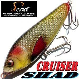 Lena Lures Cruiser Shad 140mm 65g Slow Sinking Farbe Natural Silver 100% Handmade in Germany