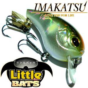 Imakatsu Little Bats Crankbait Wobbler ca. 40mm 5g Floating Farbe Hiviz Alumina Ayu Döbel & Barschköder