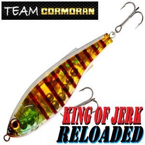 Team Cormoran King of Jerk Reloaded Jerkbait 130mm 46g Slow Sinking 1 Stück Farbe Ghost Perch