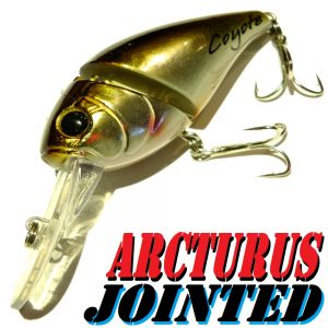 Coyote Pro Lures Arcturus Jointed Crankbait Wobbler 7cm 15g Farbe Brown Gold Silver Barsch&Zanderwobbler