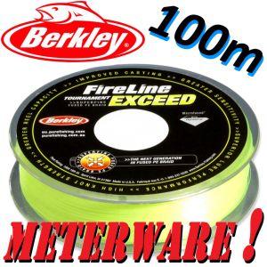 Berkley Fireline EXCEED Flame Green geflochtene Angelschnur 0,12mm 6,8kg 100m Meterware
