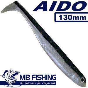 AIDO Shad von MB Fishing Gummifisch 130mm Farbe Farbcode 003 3 Stück im Set Zanderköder
