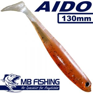 AIDO Shad Gummifisch 130mm Farbe Kaulbarsch-Rückenschwimmer / 3 Stück im Set Zander & Barschköder
