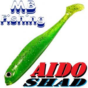AIDO Shad Gummifisch 130mm Farbe Rückenschwimmer Grün / 3 Stück im Set Zander & Barschköder