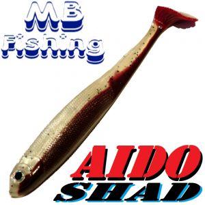 AIDO Shad Gummifisch 130mm Farbe Rückenschwimmerdesign 3 Stück im Set Zander & Barschköder
