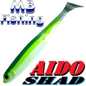 AIDO Shad Gummifisch 130mm Farbe Stintdesign / 3 Stück im Set Zander & Barschköder