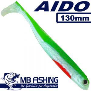 AIDO Shad von MB Fishing Gummifisch 130mm Farbe Veit Wilde 3 Stück im Set Zanderköder