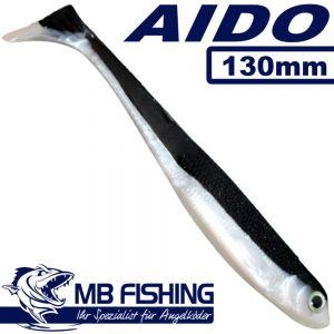AIDO Shad von MB Fishing Gummifisch 130mm Farbe Ukelei 3 Stück im Set Zanderköder