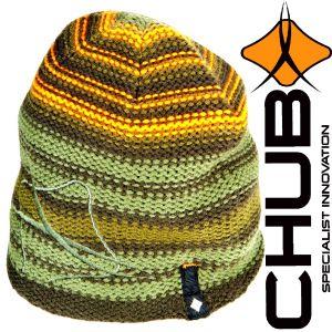 Chub Stripe Knit Beanie Mütze mit Thermatex 300 Wärmeisolierung für Freizeit, Outdoor & Angeln Wintermütze