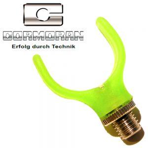 Cormoran Pro Carp Butt Grip Rod Rest Rutenauflage Farbe Grün nachtleuchtend