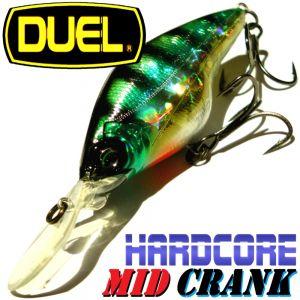 DUEL Hardcore Mid Crank 60F Wobbler Farbe HBG Perch 60mm 10g Floating Tauchtiefe 1,5-2,5m Barsch&Zanderköder