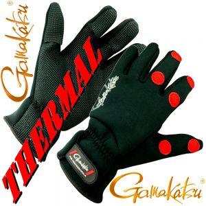 Gamakatsu Power Thermal Angelhandschuh Gr. XL mit 2 mm Neopren, gummierten Handflächen und geschlitzten Fingern!