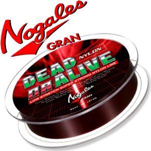 Gran Nogales Dead or Alive Nylon Hauptschnur mit 4lb - 1,81kg Tragkraft und 0,165mm Durchmesser