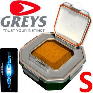 Greys Prodigy Klip-Lok Flip Top Lid Köderbox Größe S Wurm- und Madenbox 0,79 Liter Volumen ideal für lebende Angelköder