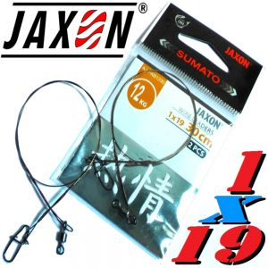 Jaxon Stahlvorfach Sumato 1X19 Strand Spin Snap + Wirbel Länge 30cm Tragkraft 12,0kg 2 Stück im Set