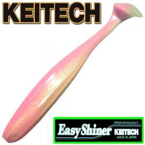 Keitech Easy Shiner 5 12,5cm Gummifisch mit Aroma Farbe Bubblegum 5 Stück im Set Zanderköder