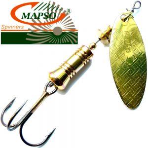 Mapso Spinner Nansa Größe 2 Gewicht 4,5g Farbe Gold Spinnköder 1 Stück