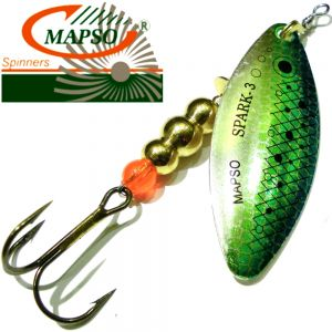 Mapso Spinner Spark Größe 3 Gewicht 11,5g Farbe Fisch Blau Spinnköder 1 Stück