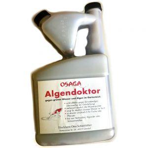 Osaga Algendoktor Algenvernichter 1Liter für 40.000l Teichvolumen Hilft gegen grünes Wasser Schwebealgenvernichter