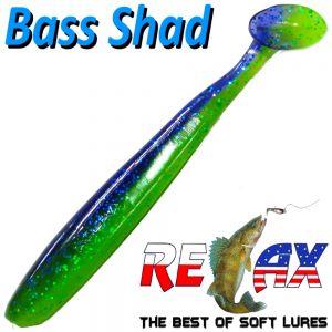 Relax Bass Shad Gummifisch 90mm in Farbe Mahi Mahi 5 Stück im Set Barsch & Zanderköder