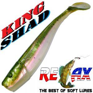 Relax King Shad 4 Gummifisch ca. 11cm Farbe Rainbow Trout Zanderköder