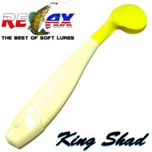 Relax King Shad Gummifisch ca. 11cm 4 Farbe Reinweiss FGT Zanderköder