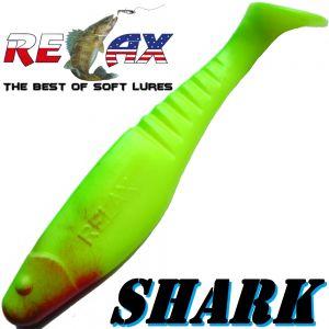 Relax Shark Gummifisch 4 10cm Fluogelb Grün