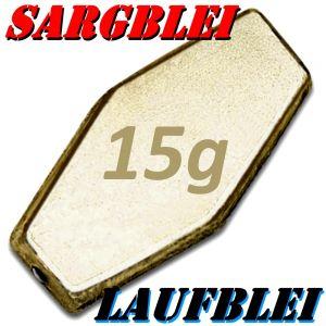 Sargblei mit Loch Gewicht 15g Laufblei mit Loch 1 Stück