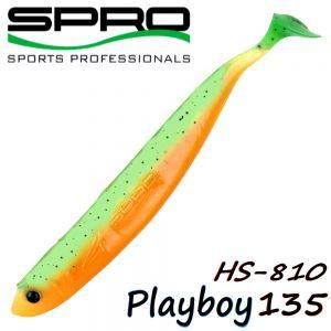 Spro HS Shads HS 810 Playboy 135 Gummifisch 135mm Farbe Green Tomato 4 Stück im Set