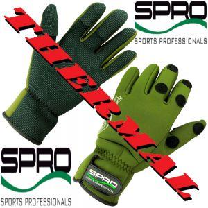 Spro Power Thermal Angelhandschuh Gr. XL mit gummierten Handflächen und geschlitzten Fingern!