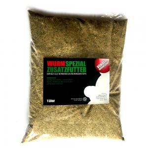 Superwurm Spezial Wurmfutter Inhalt ca. 1 Liter mit wichtigen Vitaminen & Mineralstoffen ideal für Wurmzucht & Wurmhälterung