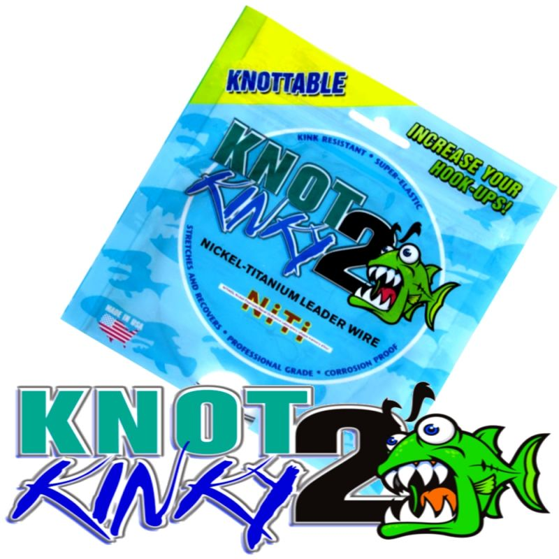 Aquateko Knot 2 Kinky Singel Strand Titanium Wire Leader ...