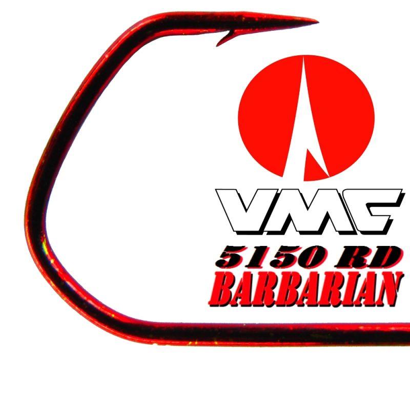 Set mit 5  Jighaken größe 6//0 mit 17gramm Hakenfarbe rot VMC Haken Rundkopf