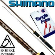 Shimano Biomaster Spin S91MH Spinnrute 2,77m WFG 15-50g Gewicht 179g Fuji Tangle Free Ringe