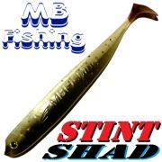 Stint Shad Gummifisch 160mm Farbe Rückenschwimmerdesign 3 Stück im Set Hecht & Zanderköder
