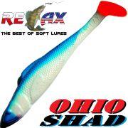 Relax Ohio Shad 5 Gummifisch ca. 14cm Farbe Reinweiss Blau RT 1 Stück Hecht&Zanderköder