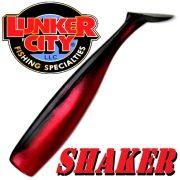 Lunker City Shaker 6 - 16cm Gummifisch Farbe Red Shad 5 Stück im Set Hecht & Zanderköder