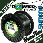 Shimano Power Pro geflochtene Angelschnur Moss Green 0,10mm 5kg 1370m auf Großspule
