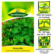Quedlinburger Petersilie Festival 68 - Petroselinum crispum / für Salate & Soßen / Ernte ab Mai bis zum ersten Frost