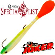 Quantum Specialist Joker M Soft Lure Gummifisch 12cm 6g Rainbow 3 Stück im Set