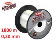 Berkley Nanofil 0,20 mm / 1800 m / Nebel-Transparent /12,649 kg