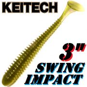 Keitech Swing Impact 3 Gummifisch 7,5cm Baby Ayu 10 Stück