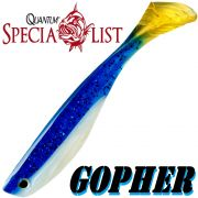 1 x Quantum Specialist Gopher Soft Lure / 9cm / Royal Swede