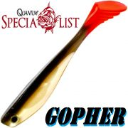 Quantum Specialist Gopher Soft Lure Gummifisch 11cm Farbe Roach 1 Stück