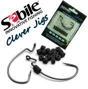 Sebile Soft Weight System Clever Jigs Gr. 2/0 inkl. Gewichte 2 Stück Farbe Black Nickel
