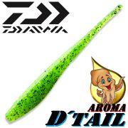 Daiwa Tournament D-Tail Pintail-Shad 4 - 10,2cm Farbe Chartreuse mit Tintenfischaroma No-Action-Shad für Barsch&Zander
